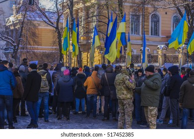 15/11/2016 street Bankova Kyiv rally defrauded depositors of the bank, the press, the police