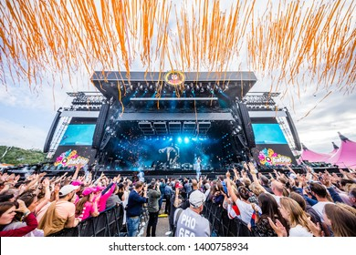 15-17 June 2018. Pinkpop Festival, Landgraaf, The Netherlands. Concert of Editors