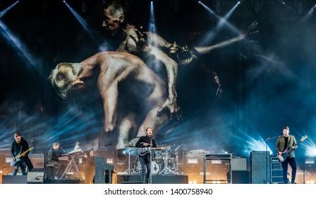 15-17 June 2018. Pinkpop Festival, Landgraaf, The Netherlands. Concert of Editors
