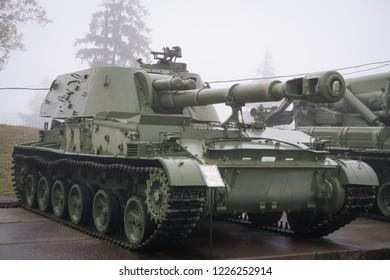 152 mm self propelled howitzer 2s3 Akatsiya, russian arms