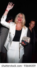 """15APR97:  Model ANNA NICOLE SMITH at the premiere of """"Volcano"""" at the Mann's Chinese Theatre, Hollywood.    Pix: PAUL SMITH"""