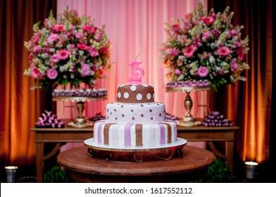 Tremendous 15Th Birthday Cake Images Stock Photos Vectors Shutterstock Funny Birthday Cards Online Amentibdeldamsfinfo