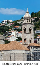 15th century bell tower of the Dominican monastery in Dubrovnik, Croatia