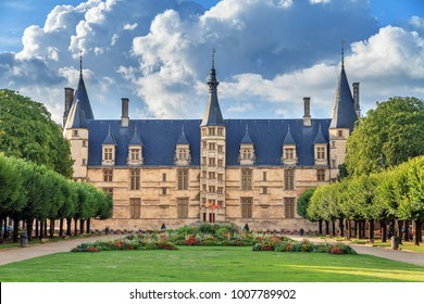 The 15th century historical monument Ducal Palace of Nevers (Palais ducal de Nevers) is the first of the river Loire's castles with its renaissance façade surrounded by the polygon turrets