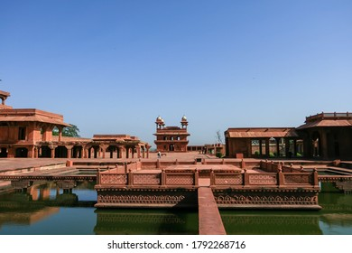 15th Century Mughal Emperor Akbar's Court Anup Talao at Fatehpur Sikri, Agra, India