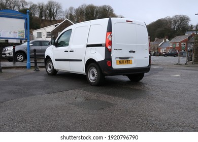 15th February 2021- A stylish Renault Kangoo van parked in the town center carpark at Laugharne, Carmarthenshire, Wales, UK.