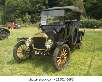 15th July 2018- A Ford Model T convertible at a vintage car show at the Gwili Railway, Bronwydd Arms, Carmarthenshire, Wales, UK.