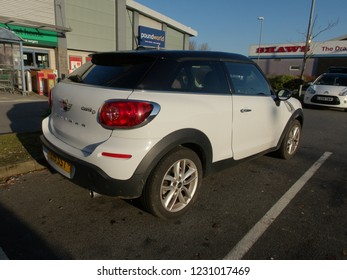 15th November 2018- A Mini Cooper D Paceman in a shopping area carpark at Carmarthen, Carmarthenshire, Wales, UK.