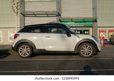 15th November 2018- A sporty Mini Cooper D Paceman in a shopping area carpark at Carmarthen, Carmarthenshire, Wales, UK.