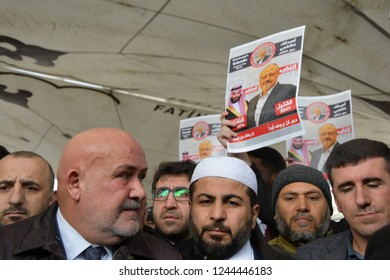 İstanbul,Turkey-November 16, 2018: A funeral prayer was performed at Fatih Mosque, Istanbul, for the journalist Jamal Khashoggi, who was killed in the Consulate General of Saudi Arabia in Istanbul.