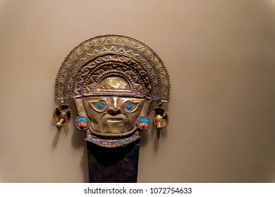 16 Apr 2015 :  BCRP Museum is a popular Museum, contain Golden mask of Inca, Lima - Peru
