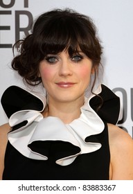 """16 August 2011 - Hollywood, California - Zooey Deschanel. """"Our Idiot Brother"""" - Los Angeles Premiere Held at The Cinerama Dome. Photo Credit: Kevan Brooks/AdMedia"""