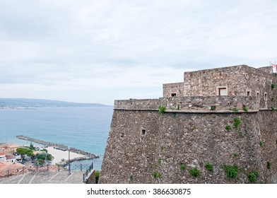 16 august 2015-pizzo calabro-italy-medieval castle located in pizzo calabro,italy