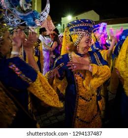 16 de fevereiro de 2017. Recife, Pernambuco, Brazil, in February 2017. Culture Popular. Block of Illusions. Frevo: manifestation of the popular culture of Pernambuco.