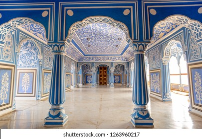 16 Dec 2018 - At Sukh Niwas Blue Room, City Palace, Jaipur, India