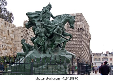 16 february 2007-damascus-sirya-Monument to the victory in Damascus, Syria