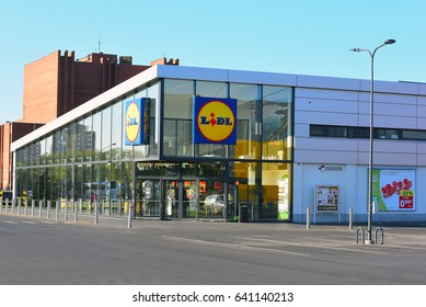 KLAIP?DA,LITHUANIA-MAY 16: LIDL supermarket  on May 16,2017 in Klaip?da ,Lithuania.