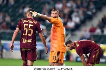 16 OCTOBER 2018 - WARSAW, POLAND: Polish Extra League LOTTO Ekstraklasa football match Legia Warszawa - Lech Poznano/p Radoslaw Ciezniak (Legia Warszawa)