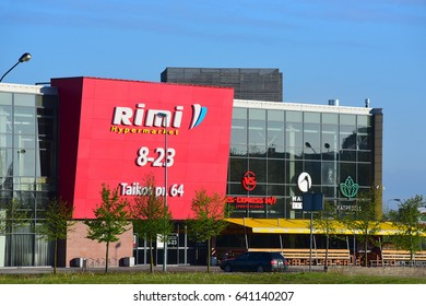 KLAIP?DA,LITHUANIA-MAY 16: RIMI supermarket  on May 16,2017 in Klaip?da ,Lithuania.