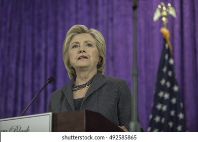 16 September 2016 - Washington,USA - Hillary Clinton speaks at Black Womens Agenda Annual Symposium .