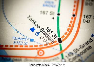 161 St Yankee Stadium. Lexington Av/Pelham Express Line. NYC. US