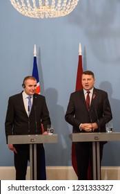 RIGA, LATVIA. President of Iceland Gudni Thorlacius Johannesson and  President 5c2cf41279c