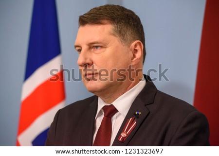 16112018 RIGA LATVIA President Latvia Raimonds Stock Photo (Edit Now ... 996b4ff95a5
