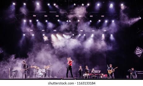 16-18 AUGUST 2018, A CAMPINGFLIGHT TO LOWLANDS PARADISE FESTIVAL, BIDDINGHUIZEN THE NETHERLANDS. Concert of James Bay