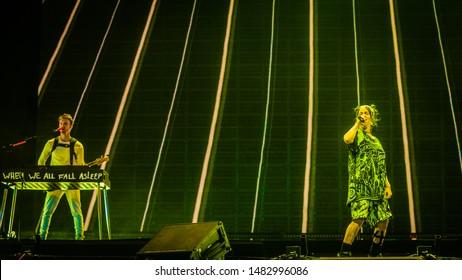 16-18 augustus 2019. Lowlands Festival, The Netherlands. Concert of Billie Eilish