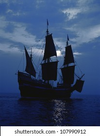 1620 Mayflower II replica Pilgrims used to Sail to New World