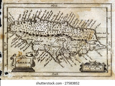 1675 Antique John Speed Map of Jamaica
