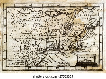 1675 Antique John Speed Map New England United States