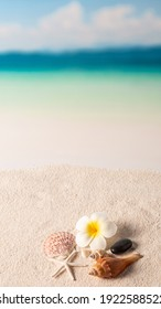 16:9 aspect ratio of beach background, summer background concept
