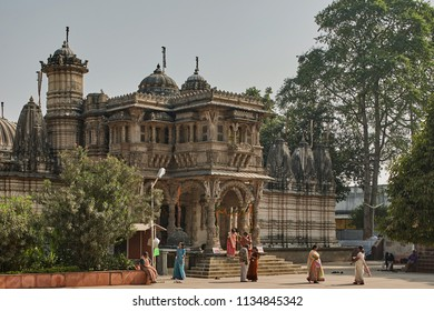 16-Dec-2007 Hutheesing Jain temple in Ahmedabad now a unesco world heritage site in Gujarat, India. It was constructed in 1848.[