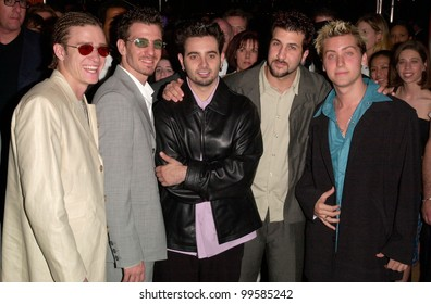 16MAY2000:  Pop group NSYNC at the Cannes Film Festival to announce their first feature film.  Paul Smith / Featureflash