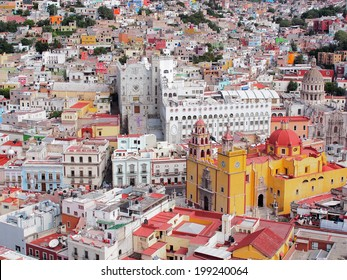 16th century colonial buildings in the valley of Guanajuato in central Mexico, World Heritage Site by UNESCO.