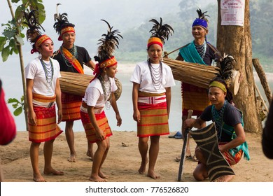 16th December 2017, Ukium, Assam, India. A moment of Wangala dance of Garo community during inauguration Day of  2nd Dron,Chree,Dilma River Festival at Ukium outskits of Guwahati, Assam, India.