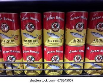 """16th July 2017 Kuantan,Pahang,Malaysia editorial of """"Ayam Brand"""" fish sardines"""