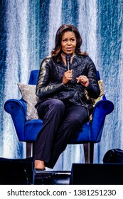 17 April 2019. Ziggo Dome, Amsterdam, The Netherlands. Michelle Obama Becoming: An Intimate Conversation