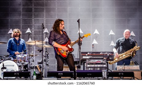 17 AUGUST 2018, A CAMPINGFLIGHT TO LOWLANDS PARADISE FESTIVAL, BIDDINGHUIZEN THE NETHERLANDS. Concert of The War On Drugs