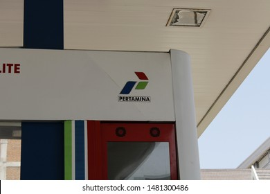 17 August 2019, Medan City, Indonesia- Pertamina is an Indonesianstate-ownedoilandnatural gascorporation based inJakarta. It was created in August 1968