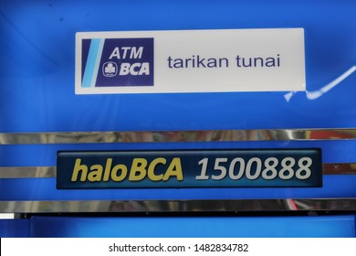 17 August 2019, Medan City, Indonesia-BCA bank ATM in the mini market. The bank was founded on February 21, 1957 under the name Bank Central Asia NV and was once an important part of the Salim Group