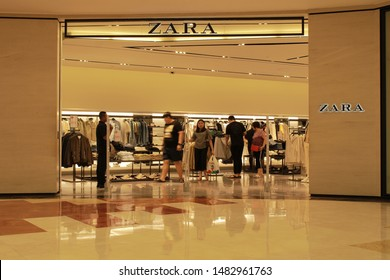 17 August 2019, Medan City, Indonesia- Zara is a brand originating from Spain and based in Arteixo, Gallicia. Zara was founded in 1975 by Armancio Ortega and Rosallia Mera.