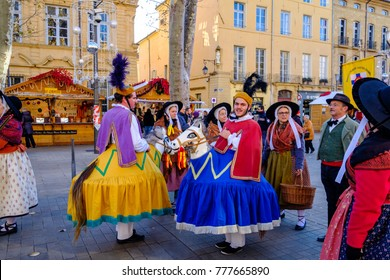 "17 december 2017. Aix-en-Provence, France. The traditional Feast of winter - ""Bravade calendale""."