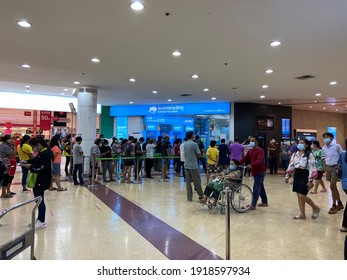 17 February 2021 The atmosphere at Krung Thai Bank  Branches in department stores   Ayutthaya City Park