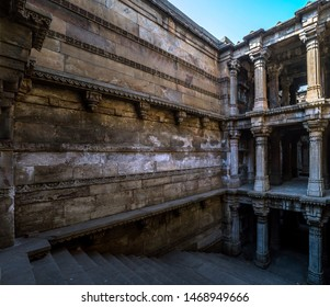 17 Jan 2017 heritage architecture-Dada Harir Five storied Stepwell, 1866 Hindu and Islamic architecture Ahmedabad Gujarat India