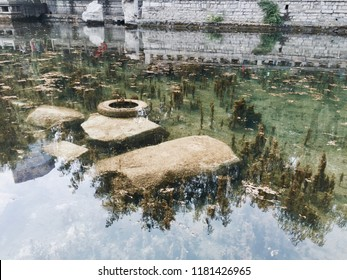 "‎⁨Jinan⁩, ⁨Shandong⁩, ⁨China⁩ - 17 June 2015: capture the pound water of the famous ""Black Tiger Spring"" in Jinan."