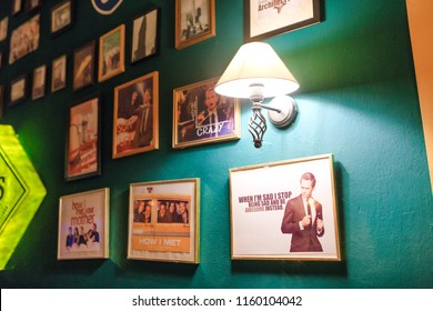 """17 MAY 2018, BERLIN, GERMANY: Restaurant pub in Berlin based on the series and the sitcom """"How I Met Your Mother"""""""