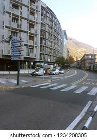 17 NOVEMBER 2018 - ITALY: City view of Bolzano bozen in Italy at day time.