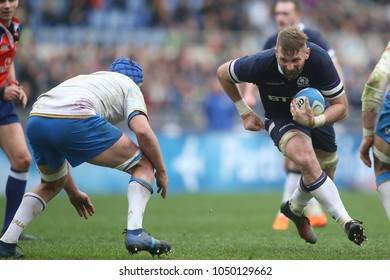 17.03.2018. Stadio Olimpico, Rome, Italy. Rbs Six Nations 2018. Italy versus Scotland.John Barclay in action during the match Italy versus Scotland at Stadio Olimpico in Rome.